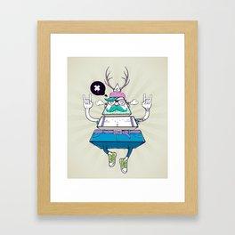 Triangle Hipster Framed Art Print