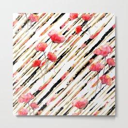 Poppy Pattern 06 Metal Print