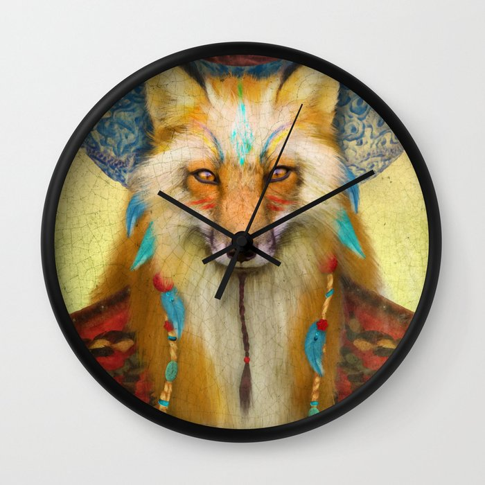 Wise Fox Wall Clock
