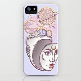 Face Falling From Space iPhone Case