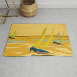 May Down Stream in Slow Motion - shoes stories Rug