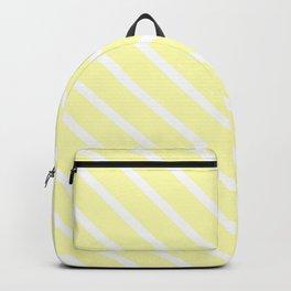Vanilla Diagonal Stripes Backpack