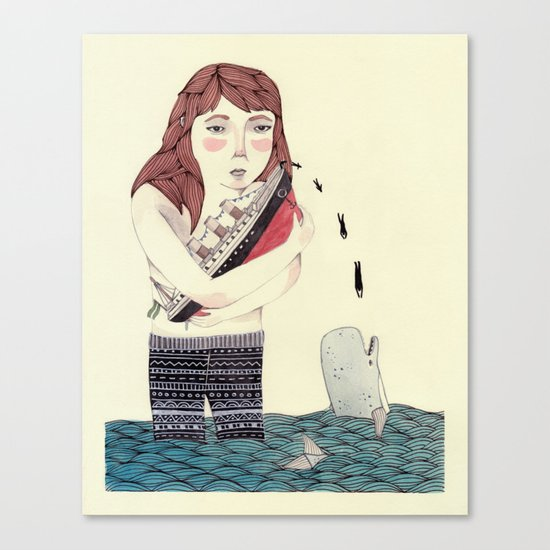 Overboard Canvas Print