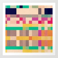 quilt Art Prints featuring quilt by spinL