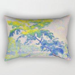 """Henri-Edmond Cross """"L'Arbre penché ou Le Rameur"""" Rectangular Pillow"""