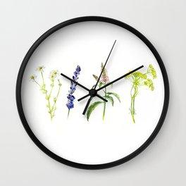 Tea Flowers Wall Clock