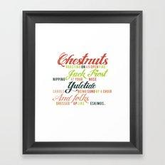 Christmas Song Framed Art Print