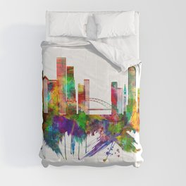 Denver Colorado Skyline Comforters