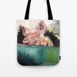 Peeping Piggy Tote Bag