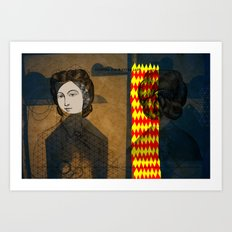 Coiffure for a young lady Art Print