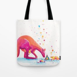 Princess Kangaroo Art Print - Armadillo's Generous Offering Tote Bag