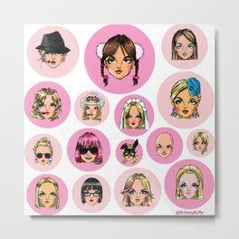 CartooNEY - Britney Spears Cartoons Metal Print