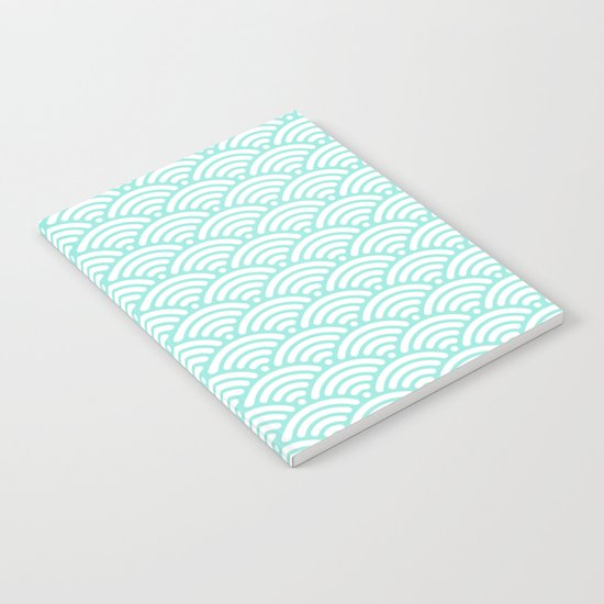 Wave Tiffany Blue Notebook