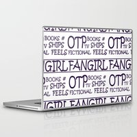 fangirl Laptop & iPad Skins featuring Fangirl by amyskhaleesi