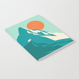 As the sun rises over the peak Notebook