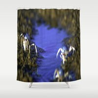 soldier Shower Curtains featuring Soldier On by Samual Lewis Davis BMmSt CQU