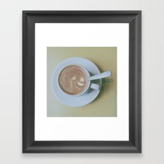 It's always coffee time Framed Art Print