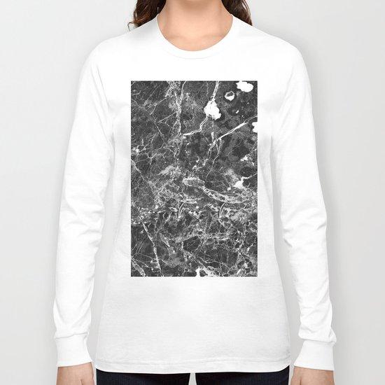 Emprador monochrome marble splash Long Sleeve T-shirt