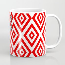 Flamingo - abstract geometric pattern - red and white. Coffee Mug