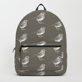 House sparrow green pattern Backpack