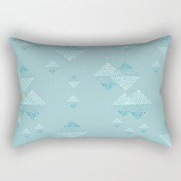 Ombré dazzling squared  dot small teal Rectangular Pillow
