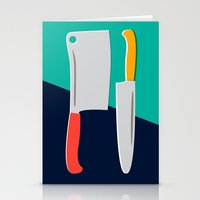 chef Stationery Cards featuring Chef Knives by Sam Osborne