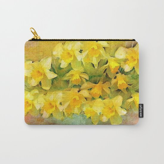 A Little Bit of Spring - Painterly Carry-All Pouch