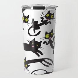 crowd of cats Travel Mug