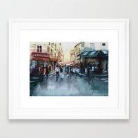 paris Framed Art Prints featuring PARIS by Nicolas Jolly