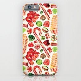 Christmas Candy Pattern iPhone Case