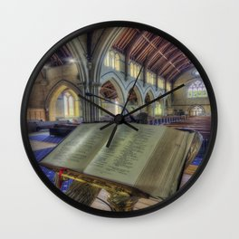 Let Us Pray Wall Clock