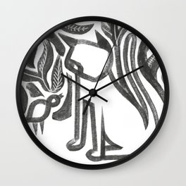 Bird and Cat Wall Clock