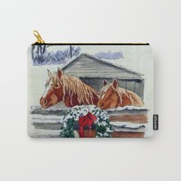 Christmas Ponies Carry-All Pouch