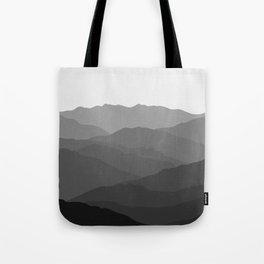 Shades of Grey Mountains Tote Bag