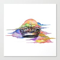 crown Canvas Prints featuring CROWN by MADEBYCHEJO