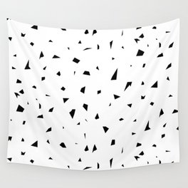 SHATTERED AND SCATTERED MONOCHROME Wall Tapestry