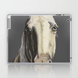 Horse Art, Grey Horse Art, Farm Animal Art Laptop & iPad Skin