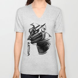 Waterbrushed Robot Protector Unisex V-Neck