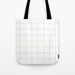 Graph Paper (Tan & White Pattern) Tote Bag