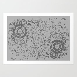 Abstract floral background Art Print