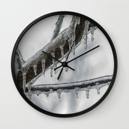 Icy Branch Wall Clock