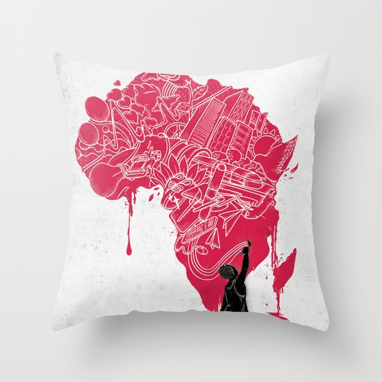 RE | Draw AFRIKA Throw Pillow