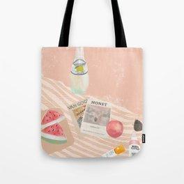 Beach essentials. Limonata, glossier, watermelon and Van Gogh Tote Bag