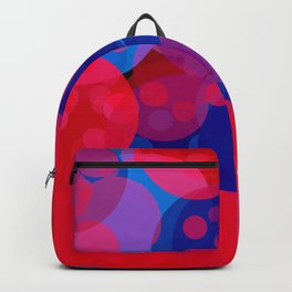 bubbles in red and blue Backpack