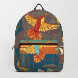Hummingbirds in Orange Backpack