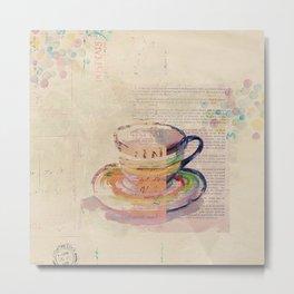 Antique Tea Metal Print