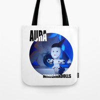 artrave Tote Bags featuring AURA ARTRAVE by Sergiomonster