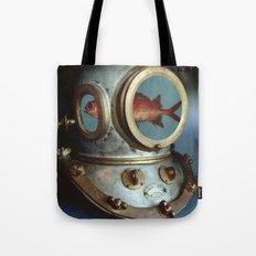 Diving Helmet Tote Bag