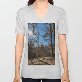 A beautiful day in the woods Unisex V-Neck