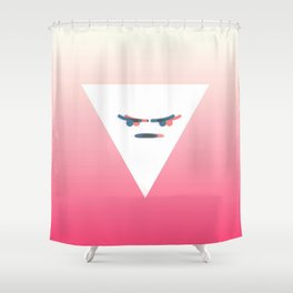 Angry Emote Aesthetics Shower Curtain